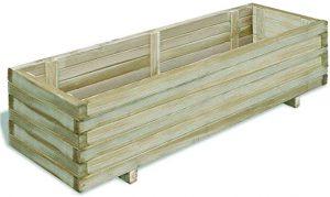 jardinière bois grande taille