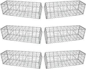cage métal pierre