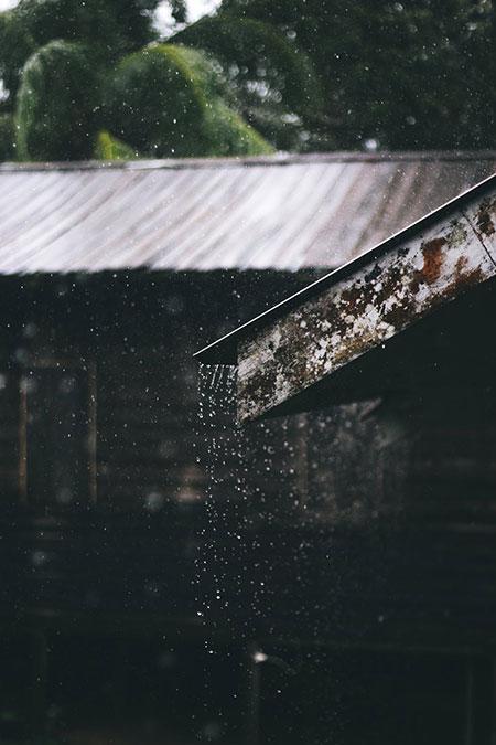 écoulement eau pluie