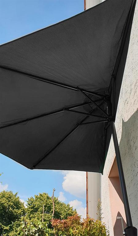 demi parasol gris terrasse maison