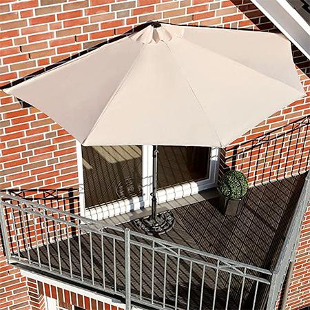 Demi-Parasol pour balcon