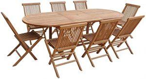 table jardin bois agrandissable