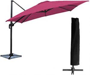 parasol déporté avec housse