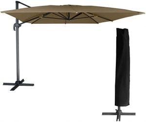 parasol deporte rectangulaire avec housse