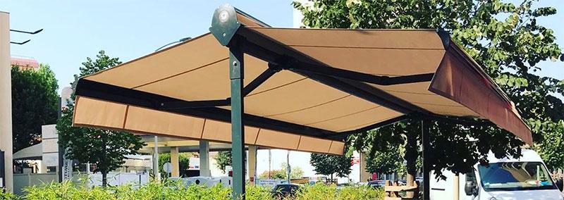 parasol double pente 2 pans