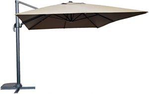 parasol rectangle rotatif deporte