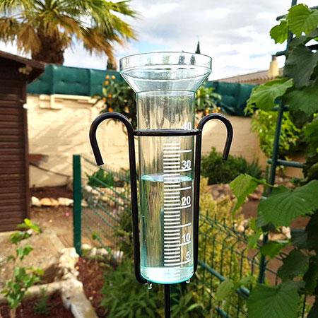pluviomètre verre