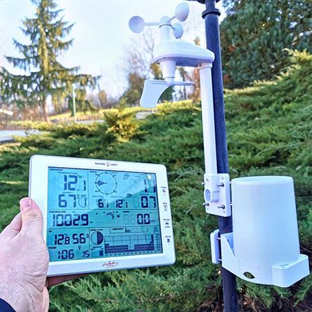 station numérique pluviometre