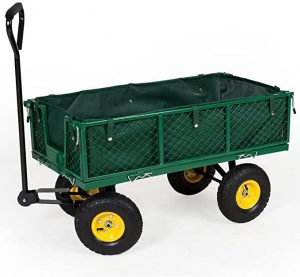 chariot de jardin tectake pro