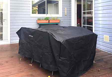 housse pour protéger table de jardin
