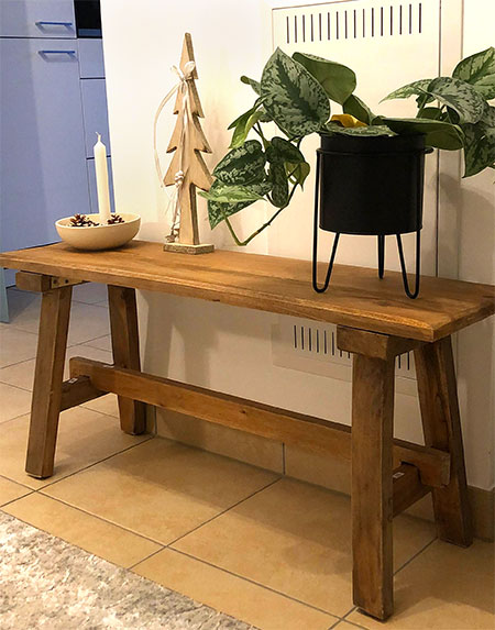 petit banc en bois pour le jardin