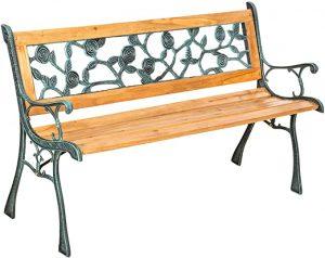banc pour jardin extérieur en bois