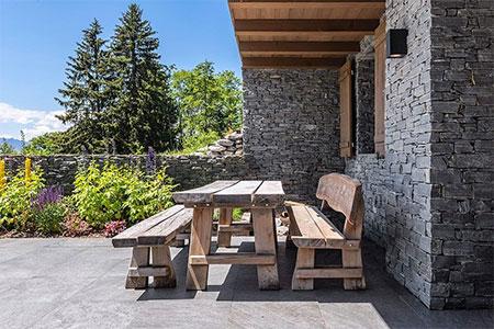 banc de ferme en bois