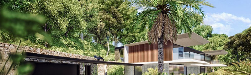 panneaux en bois terrasse maison