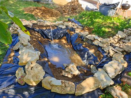 bassin en pierre
