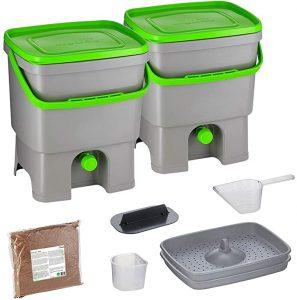 Lot de 2 Composteurs en Plastique Recyclé