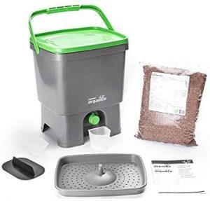 Bokashi Composteur Organico & Activateur, Gris/Vert