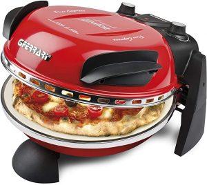 four à pizza électrique de couleur rouge