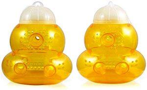 piège a frelons et guêpes de couleur jaune orange