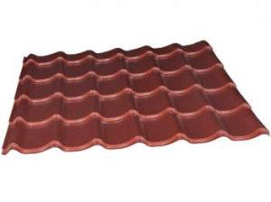 toiture rouge pour abri