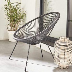 chaise acapulco de couleur noir