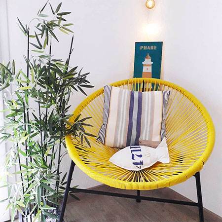 fauteuil Acapulco jaune