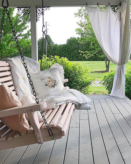 rideau d'angle sur terrasse