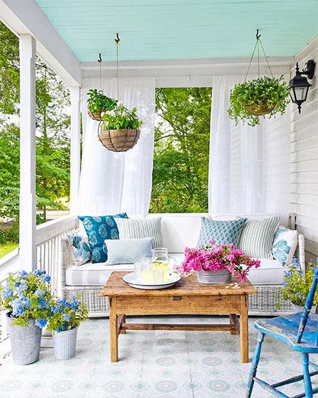 rideau pour veranda de couleur blanc