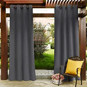 rideau gris pour terrasse