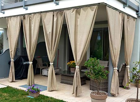 rideau luxe haut de gamme pour terrasse