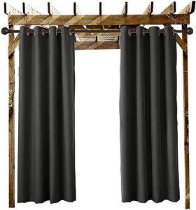 rideaux imperméable pour le jardin