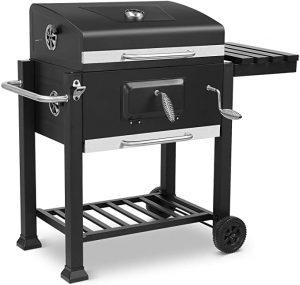 barbecue à charbon de couleur noir
