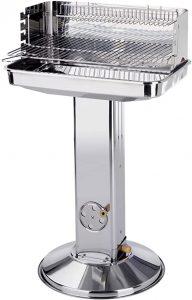 grill sur pied barbecue en acier