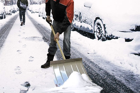 pelle solide pour la neige en aluminium